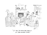 """""""It's true; the suburbs have turned us into Ward and Ward Cleaver."""" - Cartoon Premium Giclee Print by Mary Lawton"""