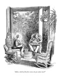 """""""Alden, which of the five senses do you value most?"""" - New Yorker Cartoon Premium Giclee Print by Charles Saxon"""