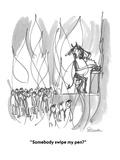 """""""Somebody swipe my pen?"""" - Cartoon Premium Giclee Print by Boris Drucker"""