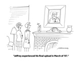 """""""Jeffrey experienced his final upload in March of '87."""" - Cartoon Premium Giclee Print by Mick Stevens"""