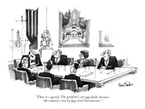 """Then it's agreed. The problem's not our fault, because the country's run …"" - New Yorker Cartoon Premium Giclee Print by Dana Fradon"