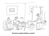 """Seratonin reuptake inhibitors, anyone?"" - Cartoon Premium Giclee Print by Mick Stevens"