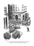 """O.K., now Reed, Bruno, Parker & Van Patten, Inc., followed by Hanover, No…"" - New Yorker Cartoon Premium Giclee Print by Eldon Dedini"