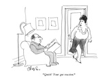 """""""Quick!  Your gut reaction."""" - New Yorker Cartoon Premium Giclee Print by Edward Frascino"""