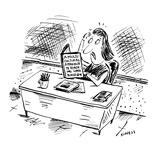 "teacher is perplexed having to read, ""A Multi-Cultural Approach to Teachin…"" - Cartoon Premium Giclee Print by David Sipress"