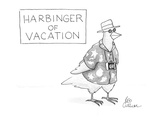 Harbinger of vacation - Cartoon Premium Giclee Print by Leo Cullum