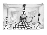 Nora Changed Her Attitude To Dusting. - Cartoon Premium Giclee Print by Victoria Roberts