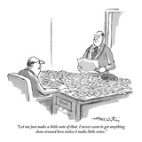 """Let me just make a little note of that. I never seem to get anything done…"" - New Yorker Cartoon Premium Giclee Print by Henry Martin"