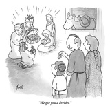 """We got you a dreidel."" - New Yorker Cartoon Premium Giclee Print by Tom Toro"
