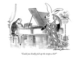 """Could you kindly pick up the tempo a bit?"" - New Yorker Cartoon Premium Giclee Print by Bernard Schoenbaum"