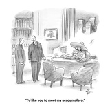 """I'd like you to meet my accountolero."" - Cartoon Premium Giclee Print by Frank Cotham"