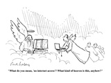 """""""What do you mean, 'no internet access?'  What kind of heaven is this, any…"""" - Cartoon Premium Giclee Print by Mort Gerberg"""