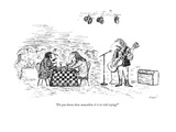"""Do you know how masculine it is to risk crying?"" - New Yorker Cartoon Premium Giclee Print by Edward Koren"