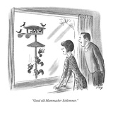 """Good old Hammacher Schlemmer."" - New Yorker Cartoon Premium Giclee Print by Robert J. Day"