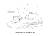 """""""Too bad about Fred.  He surfed the net."""" - Cartoon Premium Giclee Print by Mick Stevens"""