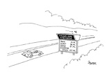 Travelers' Advisory:  Rain 12 Mi.; Sleet 36 Mi.; Snow 51 Mi.; Clearing Ski… - Cartoon Premium Giclee Print by Jack Ziegler