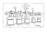 A row of gravestones with the names 'Bowether, Wilkin, Lynch, &, Fisk,' al… - Cartoon Premium Giclee Print by Robert Mankoff