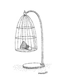 badminton birdie in a cage - Cartoon Premium Giclee Print by Robert Mankoff