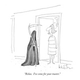 """Relax.  I've come for your toaster."" - New Yorker Cartoon Premium Giclee Print by Arnie Levin"
