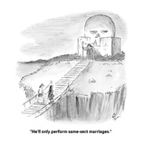 """He'll only perform same-sect marriages."" - Cartoon Premium Giclee Print by Frank Cotham"