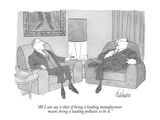 """""""All I can say is that if being a leading manufacturer means being a leadi…"""" - New Yorker Cartoon Premium Giclee Print by J.B. Handelsman"""