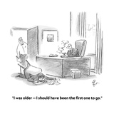 """""""I was older—I should have been the first one to go."""" - Cartoon Premium Giclee Print by Frank Cotham"""
