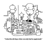 """""""I miss the old days when we only had to read email."""" - Cartoon Premium Giclee Print by Ted Goff"""