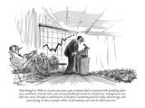 """And though in 1969, as in previous years, your company had to contend wit…"" - New Yorker Cartoon Premium Giclee Print by Lee Lorenz"