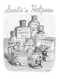 Array of fake medicines and products designed to for ailments that Santa m… - New Yorker Cartoon Premium Giclee Print by Roz Chast