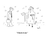 """Check it out."" - Cartoon Premium Giclee Print by Arnie Levin"