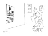 Eye chart at doctors office has binary-type digits rather than letters. - Cartoon Premium Giclee Print by Arnie Levin