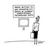 Press Button to See Animated 3-D Graph of Current Unrestrained Technology … - Cartoon Premium Giclee Print by Ted Goff
