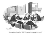 """ 'Honesty is the best policy.' O.K.! Now, what's the second-best policy?"" - New Yorker Cartoon Premium Giclee Print by Dana Fradon"