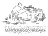 """The face of the pear-shaped man reminded me of the mashed turnips that Au…"" - New Yorker Cartoon Premium Giclee Print by Jack Ziegler"