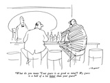 """What do you mean, 'Your guess is as good as mine'? My guess is a hell of …"" - New Yorker Cartoon Premium Giclee Print by Al Ross"