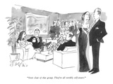 """Steer clear of that group.  They're all terribly self-aware."" - New Yorker Cartoon Premium Giclee Print by Edward Frascino"
