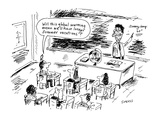 Will this global warming mean we'll have longer summer vacations?' - Cartoon Premium Giclee Print by David Sipress