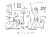 """""""Can we have a real-time chat?"""" - Cartoon Premium Giclee Print by Mick Stevens"""
