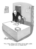 """Yes, I know, Munger. But Wallace Stevens didn't scribble his damned verse…"" - New Yorker Cartoon Premium Giclee Print by J.B. Handelsman"