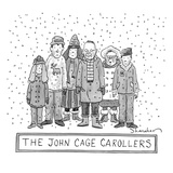 A group of carolers stands in the snow, neither speaking nor singing.  Ref… - New Yorker Cartoon Premium Giclee Print by Danny Shanahan