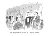 """If it's a California wine you wish, Mr. Larry will assist you."" - New Yorker Cartoon Premium Giclee Print by James Stevenson"