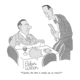 """Captain, this Brie is totally out of control!"" - New Yorker Cartoon Premium Giclee Print by Gahan Wilson"