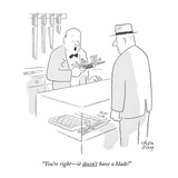 """You're right—it doesn't have a blade!"" - New Yorker Cartoon Premium Giclee Print by Chon Day"