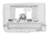 Workaholic&#39; - New Yorker Cartoon Premium Giclee Print by Mick Stevens