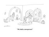 """We built a snowperson!"" - Cartoon Premium Giclee Print by Michael Maslin"