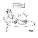 Hypnotext - Cartoon Premium Giclee Print by Peter Mueller