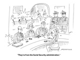 """""""They're from the Social Security administration."""" - Cartoon Premium Giclee Print by Mick Stevens"""