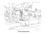 """Dave?  Al Fresco here!"" - Cartoon Premium Giclee Print by Mick Stevens"