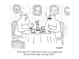"""""""Great spot, Al.  I didn't know there was anyplace left that permitted cig…"""" - New Yorker Cartoon Premium Giclee Print by Robert Mankoff"""