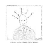 """The Five Major Warning Signs of Baldness."" - New Yorker Cartoon Premium Giclee Print by Robert Mankoff"